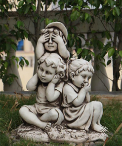 Resin Girls and Boys Statues